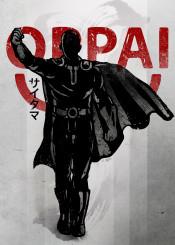 oppai  anime  manga  ink  inking  japanese  japan  saitama  cape  kanji  one  punch  man  strong  power  level  hero