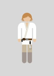 luke  pictogram  movie  character  film  geek  minimal