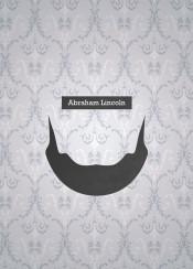 icon digital graphic design abe abraham lincoln beard mustache moustache face minimalist minimalism minimal fun humor usa history barber shop american