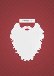 santa claus digital graphic design beard mustache winter moustache christmas xmas minimalism minimalist minimal humor fun american holiday barber shop father