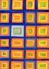 square pattern patterns color beautiful light balance harmony shapes geometry geometrical geometric original painting artwork luminous