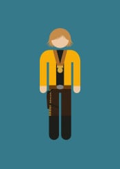 pictogram movie film character minimal minimalistic portrait