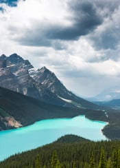 mountain mountains rockies lake nature canada peyto banff alberta blue teal vibrant scenic view landscape amazing