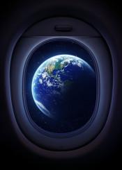 earth airplane window space ship