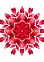 flower floral flora botanical abstract red nature mandala petal bloom beautiful decorative illustration watercolor geometric pattern vibrant