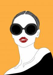 woman girl urban pop popup illustration minimalism minimalistic