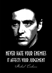 michael corleone don godfather maffia gangster beegeedoubleyou judgement hate enemies black white quotes