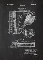 grand piano fortepiano music instrument instrumental musician orchestra patent drawing blakckboard blueprint vintage