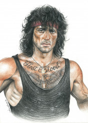 rambo firstblood stallone action 80s tattoo inkedikons