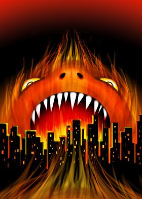 Monster City Fire Beast