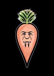 mnstr monster vampire horror fantasy dracula orange green carrot food urban street funny humour evil