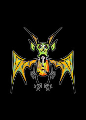 mnstr dragon fantasy urban street graffiti thrones gof orange yellow green red cute wings monster