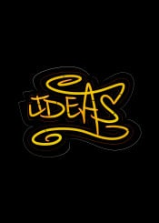 ideas handlettering lettering urban street graffiti yellow orange neon red insprational motivational