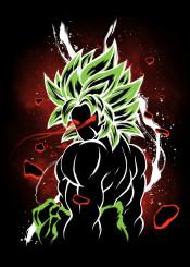 broly dragonball dragon ball kakarotto vegeta goku super saiyan legendary thunderstorm ki strenght eyes new movie paragus green berserker toei nerd cool anime manga shonen