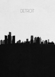detroit michigan united states america usa travel skyline cityscape urban landscape american city downtown hometown cities neighborhood towers skyscrapers panorama beautiful scenery sightseeing panoramic vista view visit housewarming memorabilia wanderlust black white retro souvenir vintage landmark monument tourist attractions modern creative silhouette architecture abstract buildings map