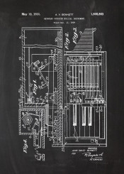 music instrument patent drawing piano pianola forte fortepiano blackoard blueprint vintage mozart bach chopin