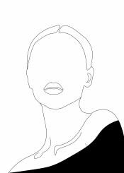 elegant minimalism woman girl portrait line