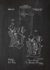 piano fortepiano pianoforte forte blackboard blueprint patent drawing vintage chopin bach mozart music musician insrument