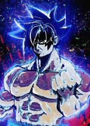 goku dragonball canvas painting super saiyan