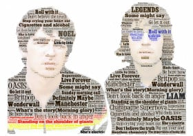 Oasis 90s Art Print Metal Poster, choice of sizes