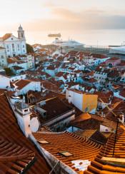 lisboa lisbon portugal sunrise city europe
