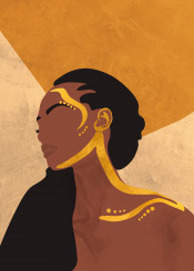 rise shine woman mnimalism minimalistic ilustration draw drawing artprint wall decor love beauty