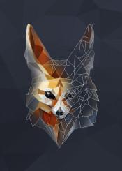 animal  desert  feenec  fox  front  geometric  head  lowpoly  minimalism  minimalistic  minmal  orange  triangle