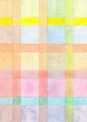 pastel color check checks watercolor watercolors cool warm soft painting abstract design balance harmony beautiful beauty pattern pink blue yellow square