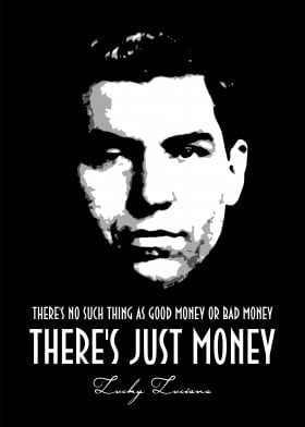 Lucky Luciano Mancave Poster Print | metal posters - Displate