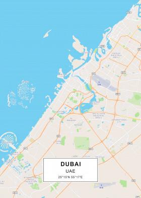 City Maps by Rockstone | metal posters - Displate Dubai Maps on