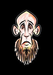 mnstr monster zombie hipster urban street beard walking dead ginger blood horror