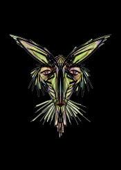 mnstr monster rabbit bunny horror evil green urban street