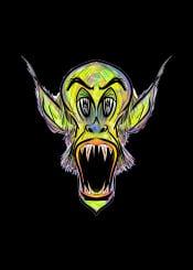horror mnstr monster green purple swamp urban street evil
