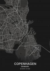 black city denmark designer grey map maps white
