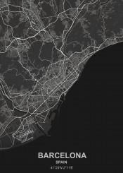 black city designer grey map maps spain white