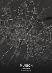 black city designer germany grey map maps white