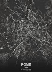 rome black city map maps plan schematic white