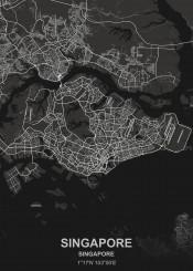 singapore black city map maps plan schematic white