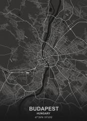 budapest black city map maps plan schematic white
