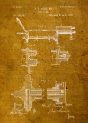 alcohol antique beer blueprint college dorm drink guy mancave old patent vintage