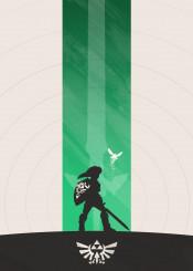 link zelda legendofzelda navi fairy majora nintendo gaming classic ocarina hyrule minimalist silhouette green