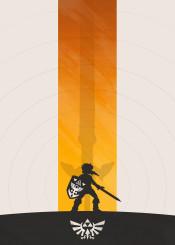 zelda link past hyrule triforce sword minimalist gaming nintendo ocarina majora