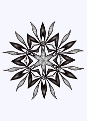 flower floral mandala abstract monochrome blackandwhite motif pattern beautiful graphic digital kaleidoscope kaleidoscopic geometric ornament gothic symmetry symmetrical modern