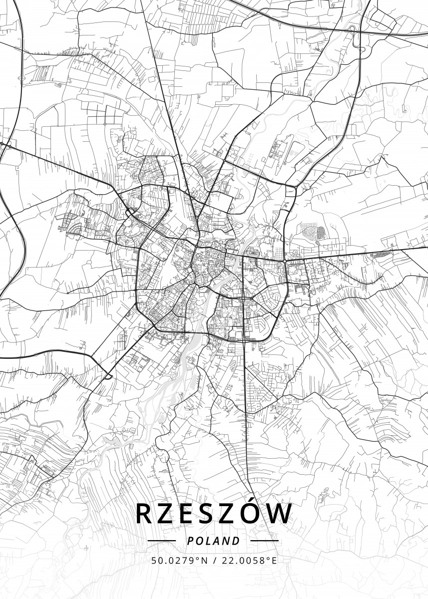 Rzeszow Poland By Designermap Art Metal Posters Displate