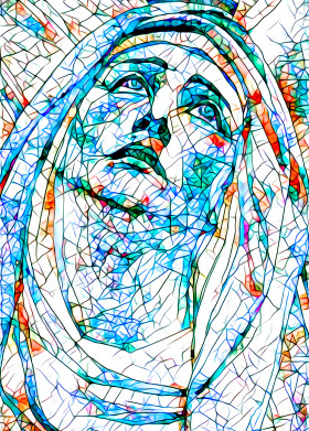 Stained Glass 8 - Madonna