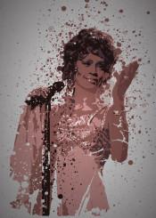 whitney houston music singer splatter