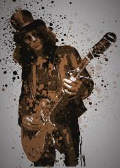slash guns roses music splatter guitar metal rock