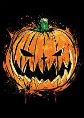 pumpkin halloween nightmare before christmas jack king splatter