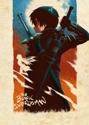 kirito sao swordartonline manga anime beater sword online alfheim gungale yui blackswordsman theblackswordsman