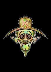 cowboy urban street vampire monster evil wild west green yellow brown